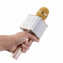 Беспроводной Караоке микрофон колонка Wster Bluetooth FanMusic Q7 Gold Original (A002565)