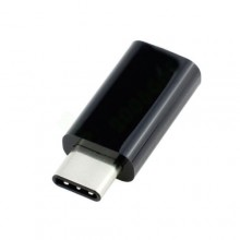 Переходник micro-USB на Type-C OMG OTG Черный