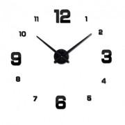 3D Большие настенные часы Best Time кварцевые самоклеющиеся 60-120см Черные Lid