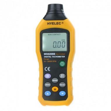 Бесконтактный фото-тахометр MS6208B (50 - 250 мм) 50-99999 RPM, память 100 групп HYELEC