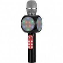 Беспроводной караоке микрофон Wster WS-1816 (А006557) Черный с динамиком, цветомузыкой, радио