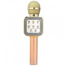 Беспроводной микрофон для караоке WSTER WS-1818 (A006556) с функцией изменения голоса Pink