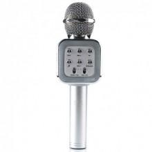 Беспроводной микрофон для караоке WSTER WS-1818 (A006556) с функцией изменения голоса Silver