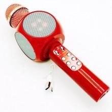 Беспроводной караоке микрофон Wster WS-1816 (А006557) Красный с динамиком, цветомузыкой, радио